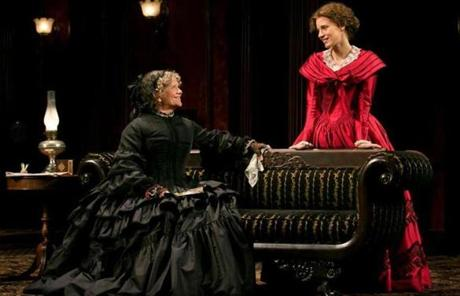 "Judith Ivey (left) in ""The Heiress."""